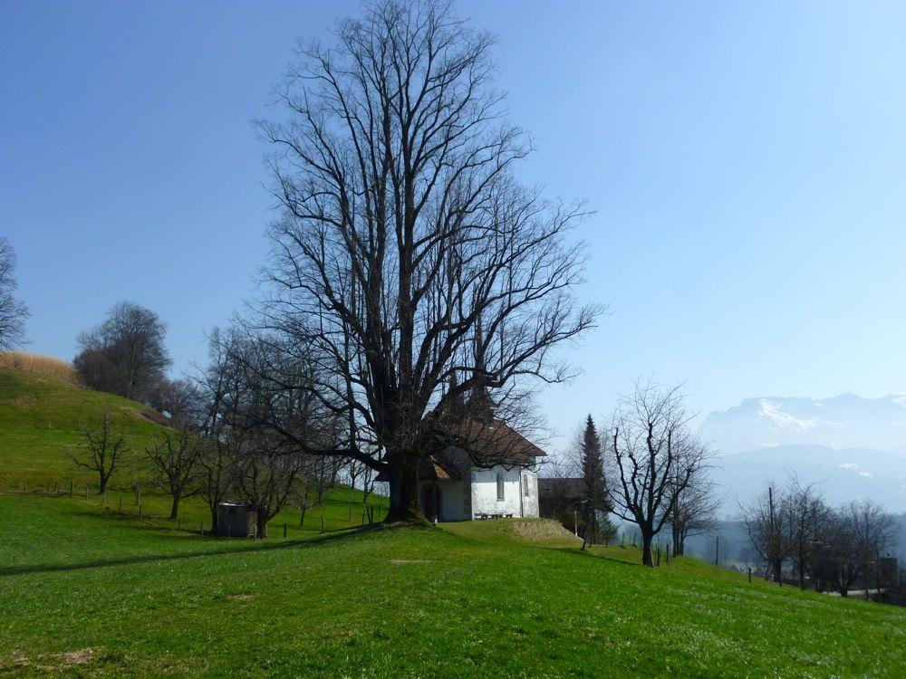 Die Kapelle St. Katharina am Herweg bei Ruswil liegt an der alten Landstrasse zwischen Luzern und Bern. (© Judith Rickenbach)