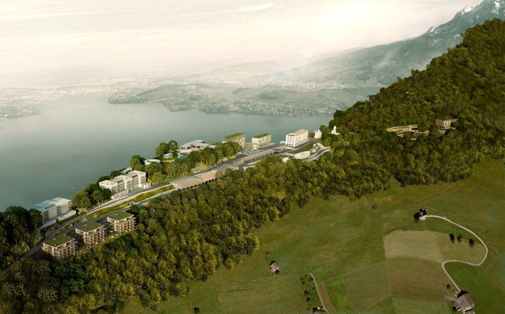 Das Millionen-Projekt wird hoch über dem Vierwaldstättersee thronen.