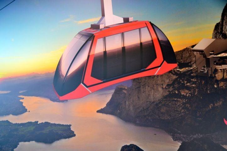 Schneller und mehr Kapazität: So wird die neue Luftseilbahn Fräkmüntegg - Pilatus Kulm aussehen.
