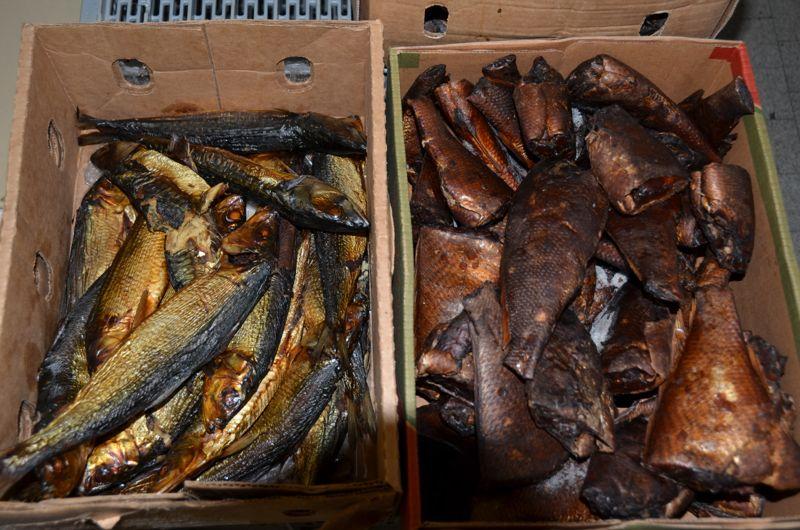 Getrockneter Fisch bei Mama Africa.