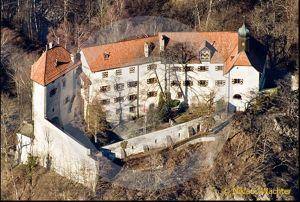 Das Schloss Rhäzüns: Es gehört Christoph Blocher.     Screenshot reportair.ch