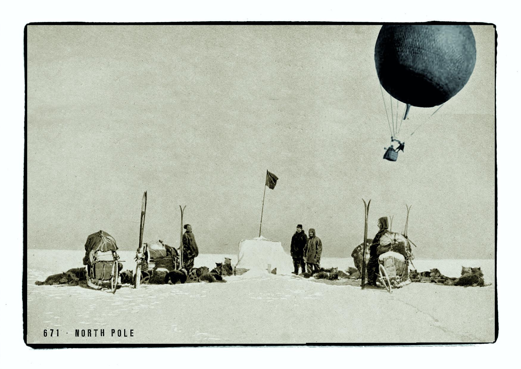 Spelterini am Nordpol - Postkarte