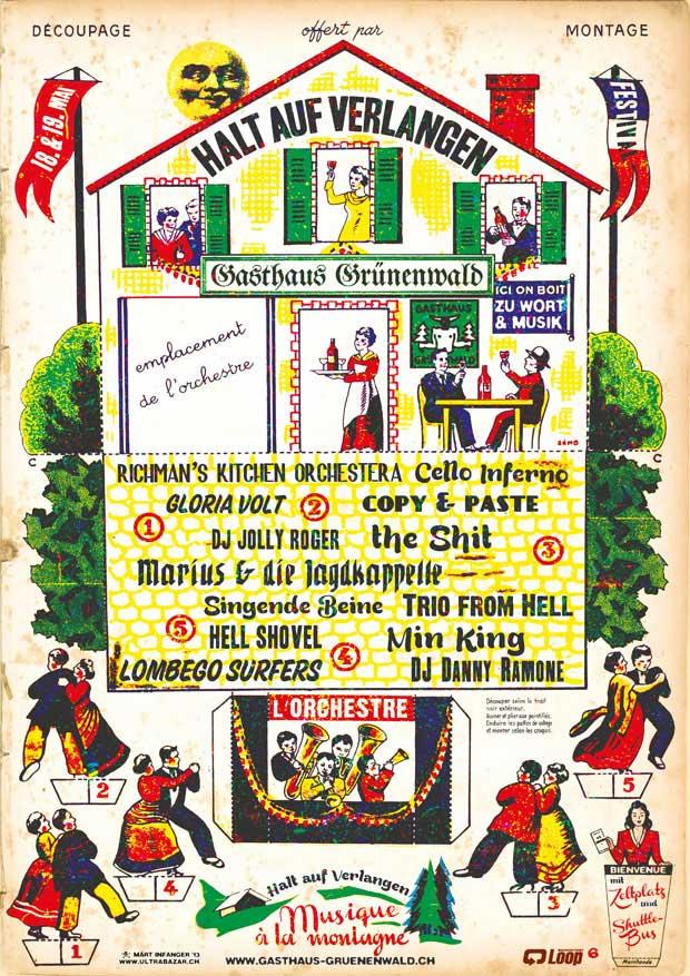 Ein Plakat des Legendären «Halt auf Verlangen»-Festivals.