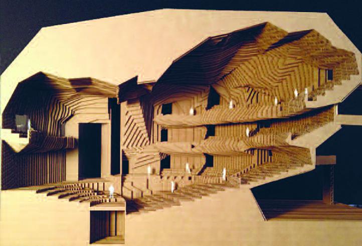 Das Modell von Nanavatty aus Papier und Karton. (zvg)