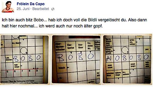 Kreatives Kreuzworträtseln à la Da Capo.