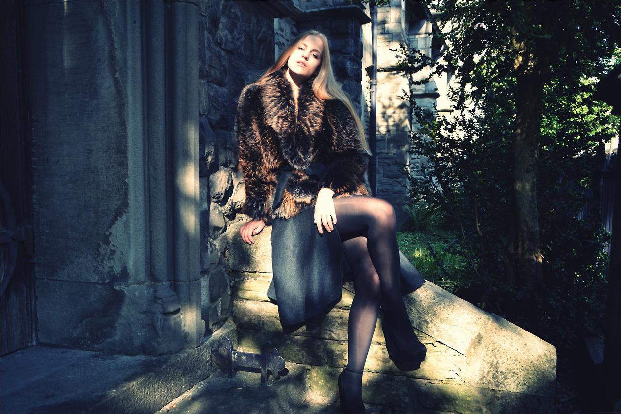 Mit dem Entwurf dieses Wintermantels hat die Luzernerin Jana Colic vor kurzem bei einem Wettbewerb von «Swiss Fur» gewonnen. (Bild: zvg)