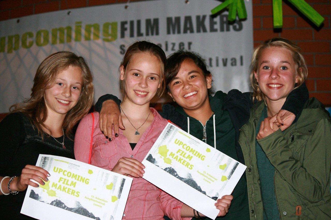 Die Gewinnerinnen des Klassenwettbewerbs 2014 aus dem Schulhaus Bärenmatt Ruswil. V.l.n.r. Mirjam Müller, Julia Stirnimann, Siriam Kwangthon und Anja Erni. (Bild: zvg)