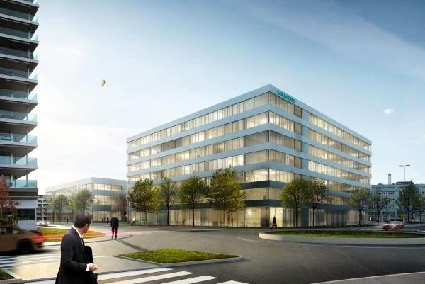 Soll zur Umgebung passen: Neues Bürogebäude der Siemens. (Visualisierung)