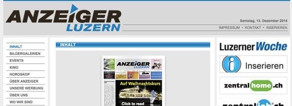 Rechts oben wird das Logo der alten «Luzerner Woche» eingesetzt.
