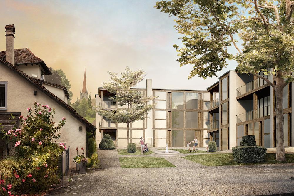 Beim Zurlaubenhof soll eine neue Überbauung von bis zu 70 Wohnungen entstehen.