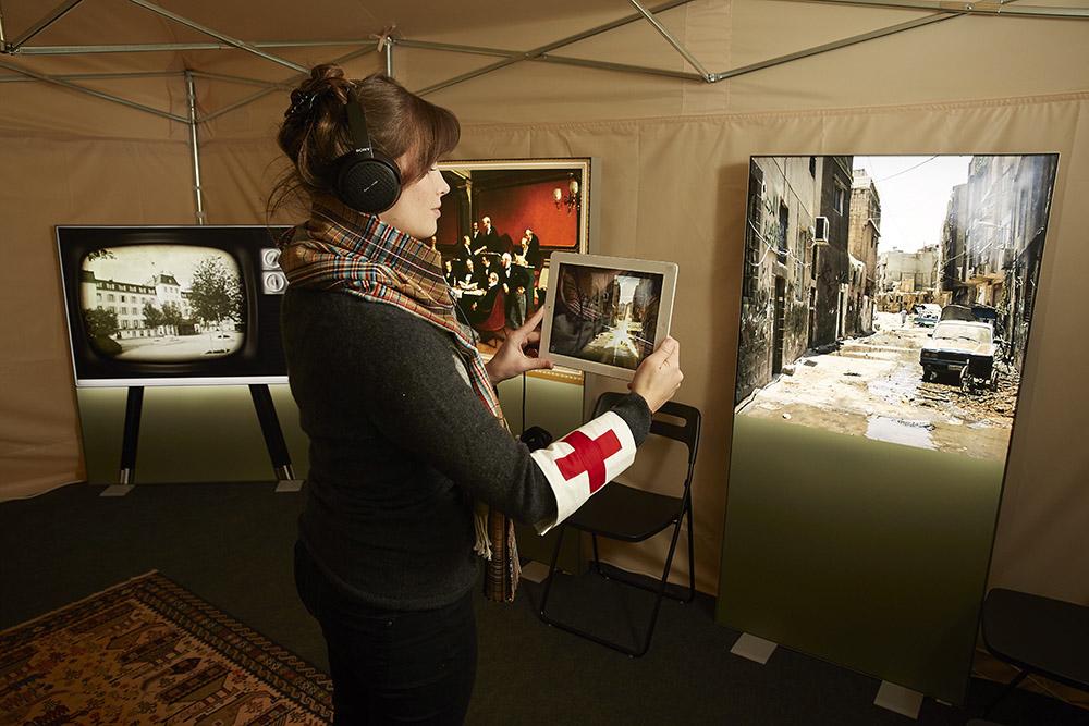 Multimediaerlebnis um Kriegsschauplätze, an welchen das IKRK vor Ort ist. (Bild: Emanuel Ammon/AURA)