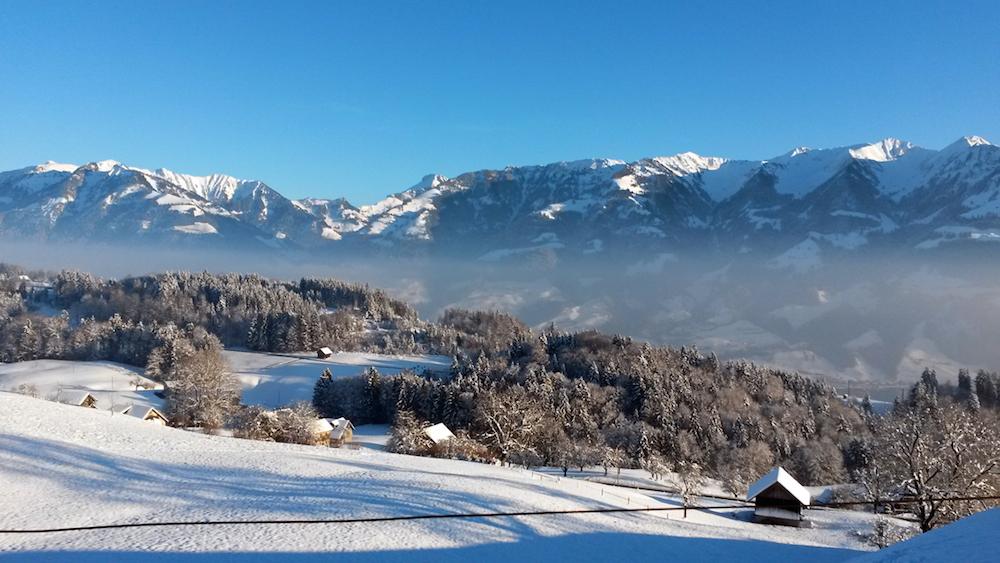 Guido Huber's Winterbild vom Glaubenberg.