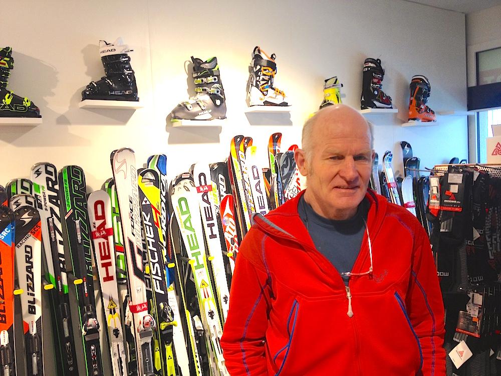 Der frühere Profiskifahrer Peter Müller führt heute in Baar ein Sportartikelgeschäft.