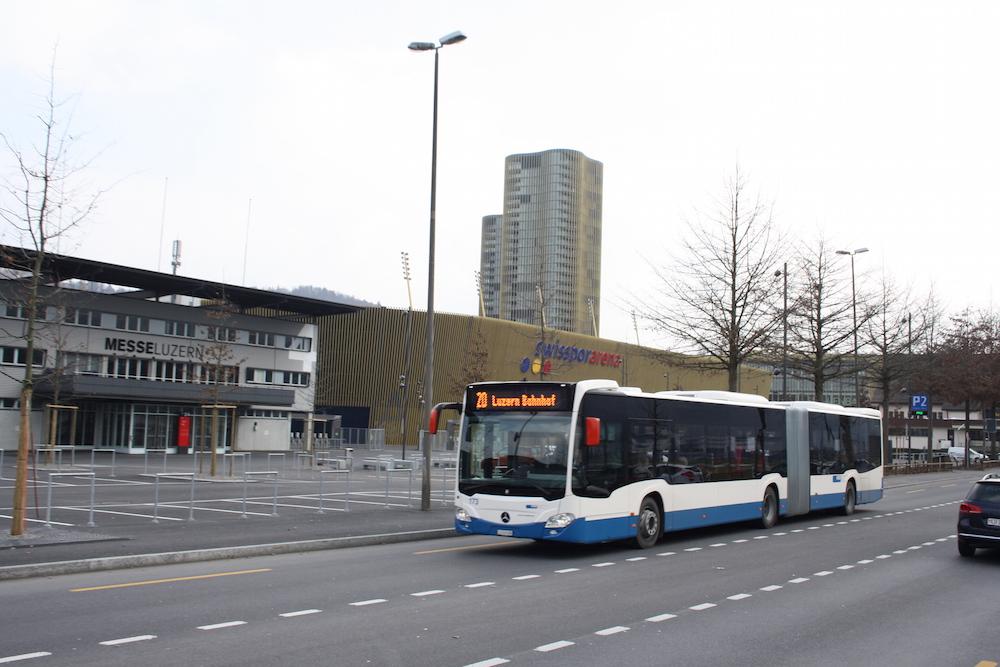 Diese neuen VBL-Busse transportieren die Gästefans künftig zum FCL-Stadion.
