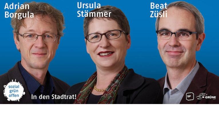 Wahlkampfplakat für die Stadtratswahlen 2012.