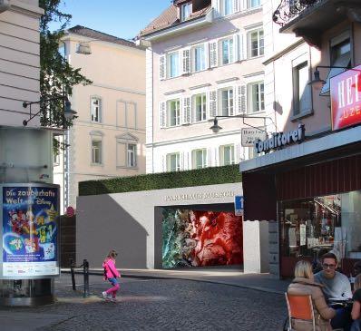 Hier beim Falkenplatz in der Luzerner Altstadt könnten die Touristen und Besucher das Parkhaus verlassen/betreten. (Quelle: www.museggparking.ch)