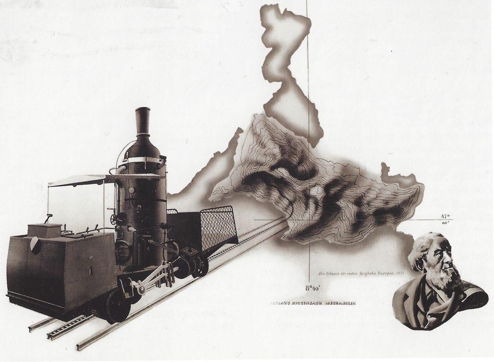 Eines der drei Rigi-Bilder ist heute noch öffentlich. Es befindet sich heute in der Bahnhofshalle.