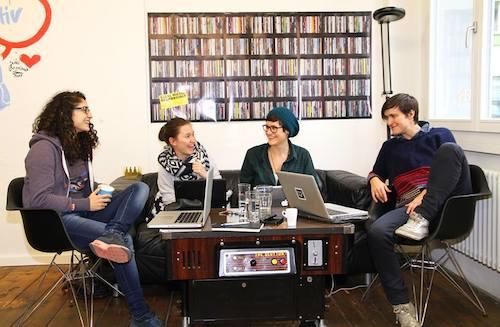 Yasemin Salman, Aurelia Meier, Corinne Imbach und Kathy Bajaria (v. l. n. r.) vom Queer Office.