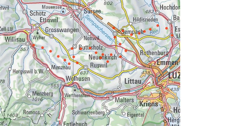 Nicht nur für E-Biker toll. Die Herzroute von Willisau nach Eschenbach. (veloland.ch)