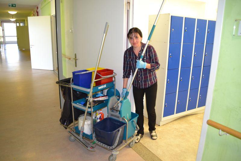 Die Ukrainerin Natalia hat Freude an ihrer Arbeit.