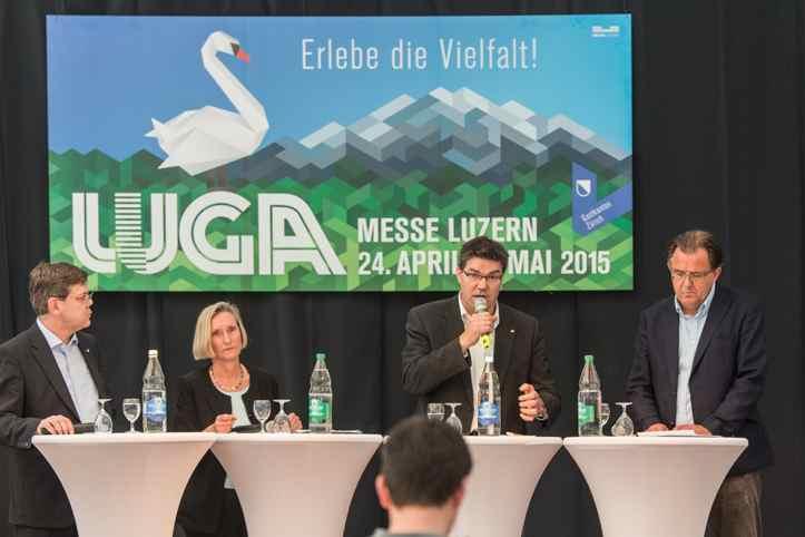Franz Grüter (SVP), Prisca Birrer-Heimo (SP), Pirmin Jung (CVP) und Peter Schilliger (FDP).