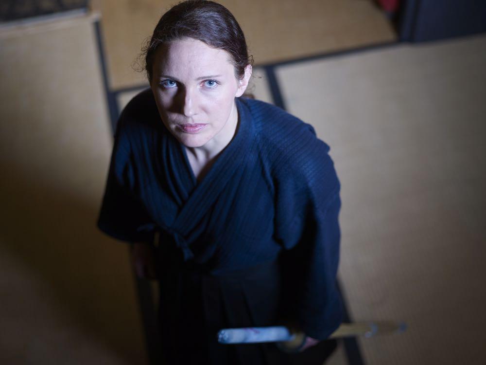 Selina Koller in ihrem Kendo-Anzug.