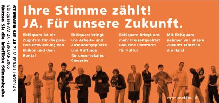 Abstimmungs-Plakat von Creafactory im Jahr 2004