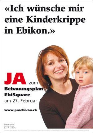 Abstimmungs-Plakat von Creafactory im Jahr 2004.