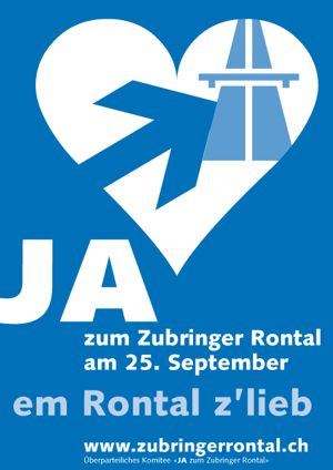 Abstimmungs-Plakat von Creafactory im Jahr 2005.