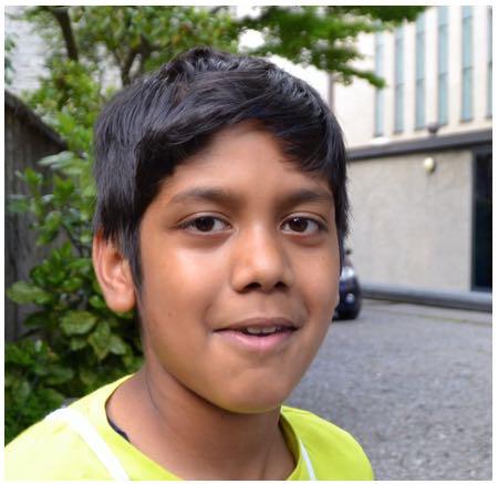 Gurpreet, 11 Jahre alt, Fünftklässler.