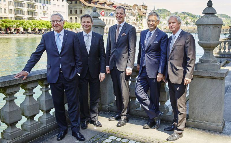 Der Luzerner Regierungsrat: Robert Küng, Marcel Schwerzmann, Reto Wyss, Guido Graf und Paul Winiker.