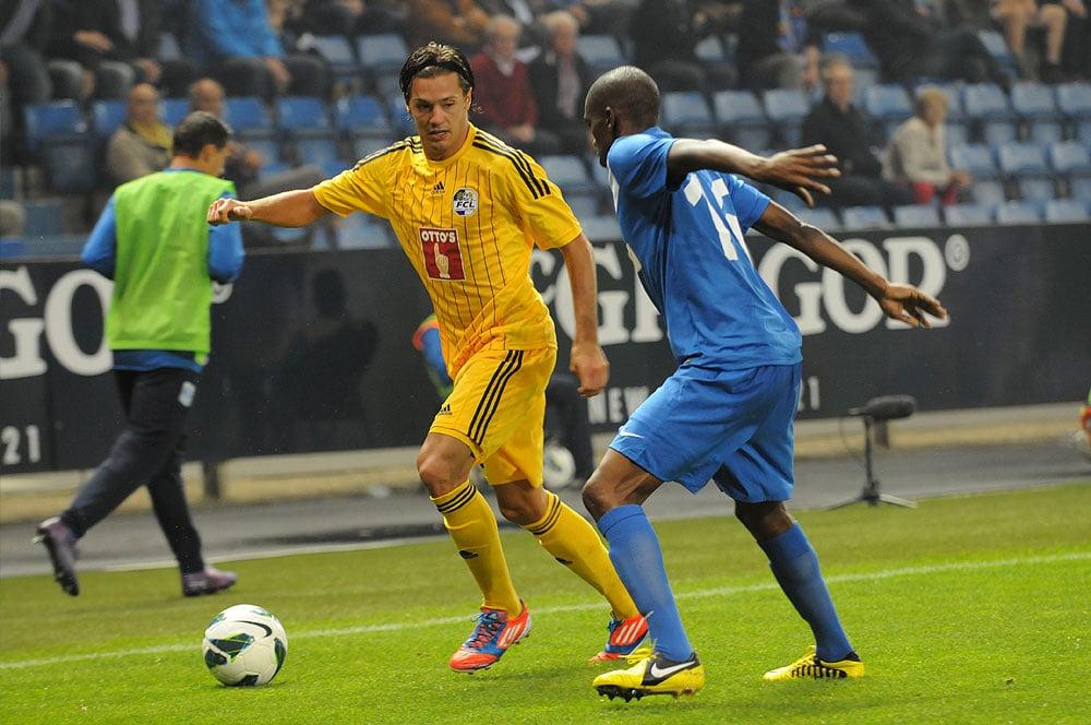 30. August 2012: Nach dem 2:1 Sieg im Hinspiel verlieren die Luzerner in Genk 2:0. Daran konnte auch Adrian Winter nichts ändern (Bild: Dominik Stegemann).