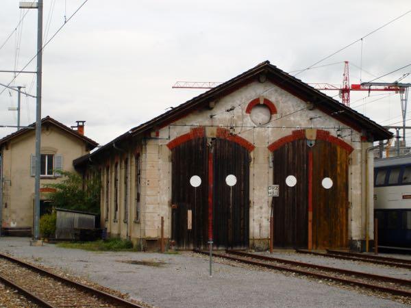 Die abgerissene alte Lokremise in Zug.