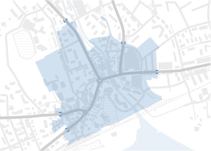 In der hellblauen Zone sollen in den Stosszeiten nur noch 300 Fahrzeuge pro Stunde durchfahren.
