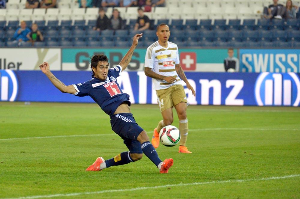 Dario Lezcano hämmerte für den FCL den Ball gleich zwei Mal ins gegnerische Netz (Bild: Dominik Stegemann).