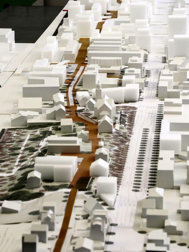 Eine Visualisierung des Masterplans in Ebikon.Auf deinem Teil der Kantonsstrasse soll eine Art «Stadtbouevard» entstehen.