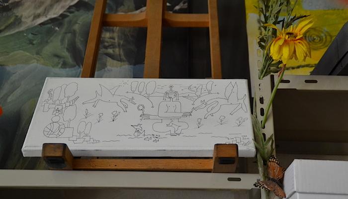 Ein Eindruck aus Schläpfers Atelier (Bild: jav)