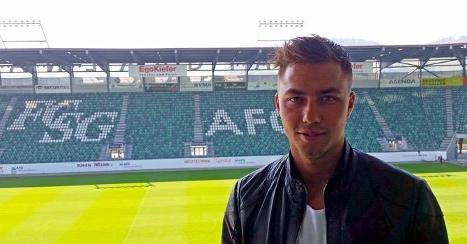 In Zukunft wird Alain Wiss für den FC St. Gallen auflaufen (Bild: FC St. Gallen).