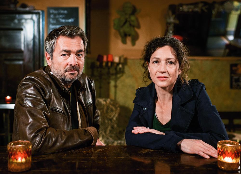 Das Ermittlungsduo um Stefan Gubser und Delia Mayer. Lancierungsbild des Tatort: Kleine Prinzen (Copyright: SRF/Daniel Winkler).