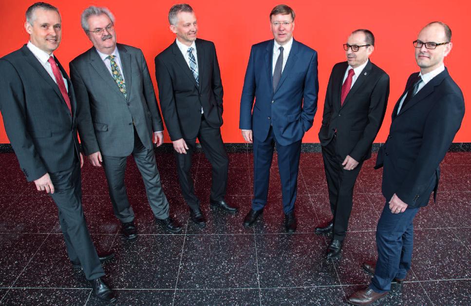 Die Geschäftsleitung der IV Stelle Luzern: Benno Muff (von links), Benno G. Frey, Daniel Fuchs, Donald Locher, Hanspeter Spini, Christoph Stirnimann (Quelle: IV Luzern).