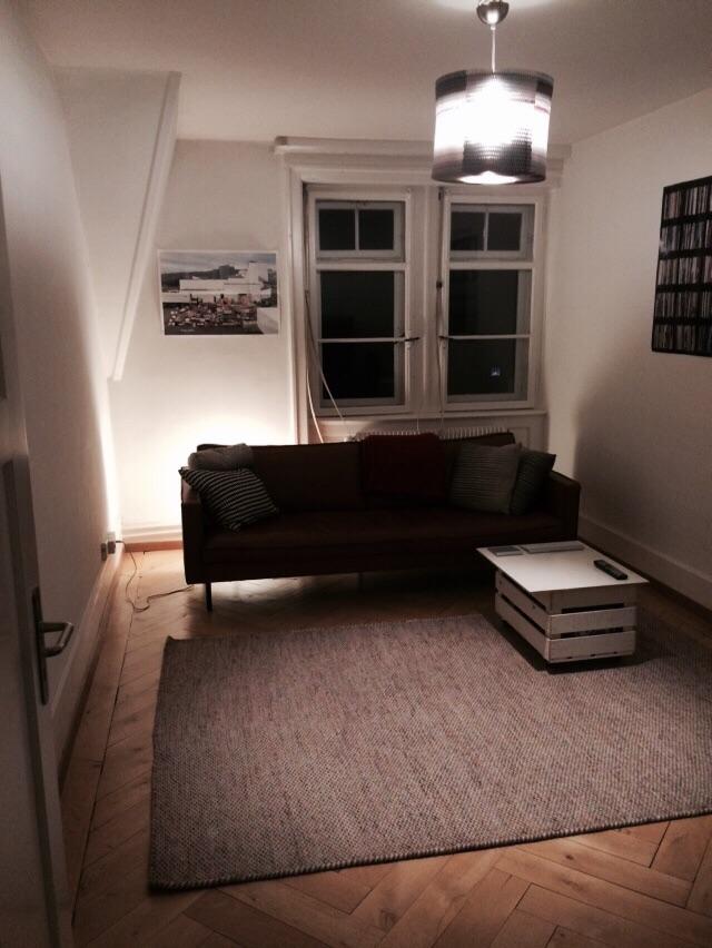 Fischers Wohnzimmer.