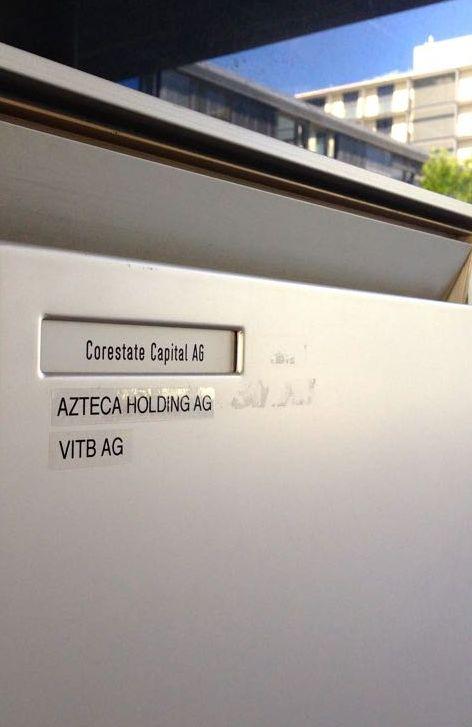 Der Briefkasten der Firma «Corestate Capital AG» an der Baarerstrasse 135.