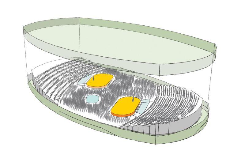 Die «Salle Modulable» - die Vision einer multifunktionalen Hülle für Musik und Theater