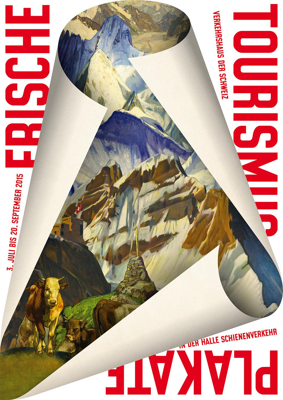 Das Werbeplakat für die Plakatausstellung von Erich Brechbühl.