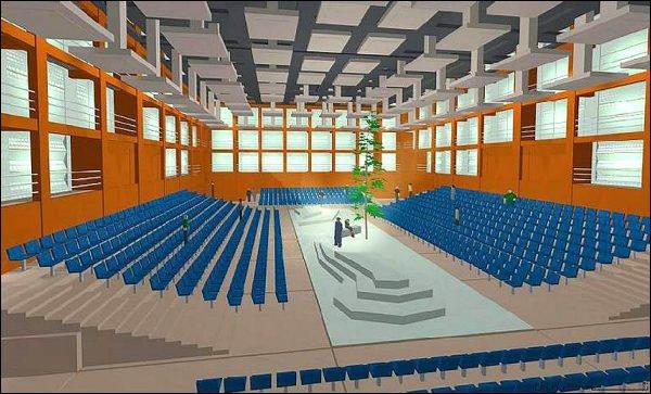 Ideenskizze für die Salle Modulable.