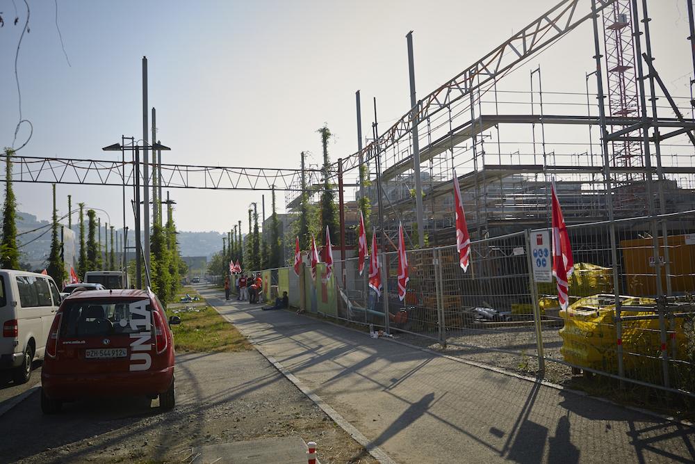 Die Baustelle in Sursee. (Bild: Jakob Ineichen)