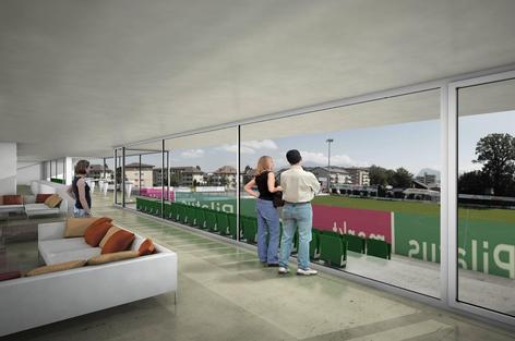 Auch im Inneren der Anlage soll den Fussballfans einiges geboten werden (Bild: zvg).