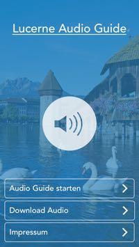 Die «Lucerne Audio Guide» ist sehr einfach gehalten. (Bild: Screenshot)