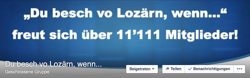 Das Titelbild der Gruppe «Du besch vo Lozärn, wenn... »