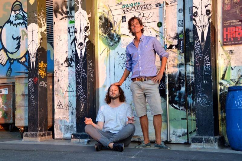 Peter «Pidi» Steger (rechts) und Martin Fischer von Huck Finn.